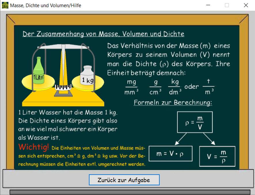 Masse Berechnen Mit Dichte. dichte herleitung und berechnung physik ...